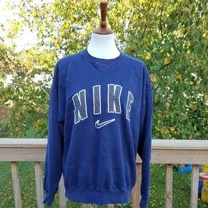 Vintage 90s Nike Blue Destroyed Sweatshirt